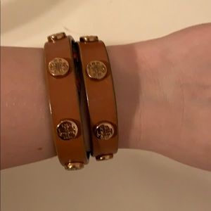 Tory Burch wrap bracelet light brown